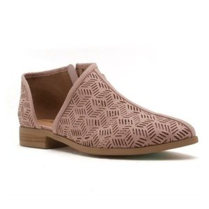 Shoes - ✨Vegan Leather Perforated Slip On Bootie